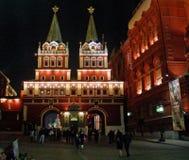 Iberische Verrijzenispoort en Iver-kapel in Moskou, Rusland Stock Foto's