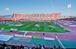 Iberostar Stadium Palma. PALMA DE MALLORCA, BALEARIC ISLANDS, SPAIN - APRIL 2, 2016: RCD Mallorca wins 3-0 against Léganes in a home game in Segunda division on Stock Photo