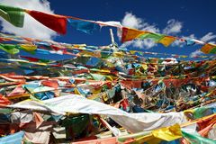 Ibetan prayer flags Royalty Free Stock Image