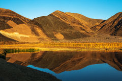 Ibex Hills - Saratoga Spring Death Valley National Park. Ibex Hills Reflection Stock Images