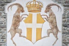 Ibex sheep sign Royalty Free Stock Image