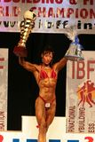 IBFF Bodybuilding world championship. KOPER - NOVEMBER 13: Grof Brigitta participates in IBFF Bodybuilding world championship Miss Figure category on November 13 Royalty Free Stock Photo