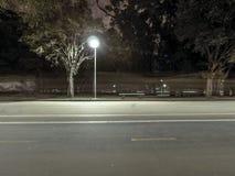 Ibirapuera公园在晚上 免版税库存图片