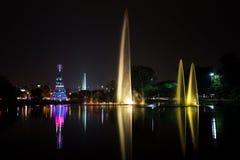 Ibirapuera fontanna, Sao Paulo, Brazylia Zdjęcie Stock