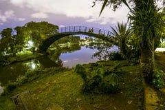Ibirapuera park przy nocą Zdjęcia Royalty Free