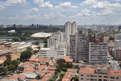 Ibirapuera Park - Sao Paulo - Brazil. The Ibirapuera Park from a Heliport in the modern city of Sao Paulo, Brazil Royalty Free Stock Photography