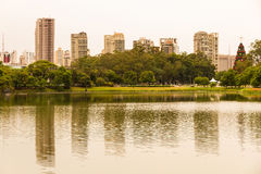 Ibirapuera Park in Sao Paulo. The Ibirapuera Park in Sao Paulo, Brazil Royalty Free Stock Photo