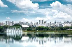 Ibirapuera Park in Sao Paulo, Brazil - Latin America.  royalty free stock images