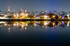 Ibirapuera Park - Sao Paulo. Night view of the city Sao Paulo, Ibirapuera Park Stock Photography