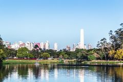 Ibirapuera park w Sao Paulo, Brazylia Brasil zdjęcie royalty free