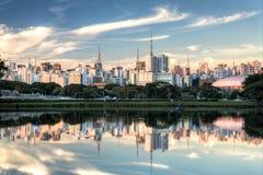 Ibirapuera parkerar - Sao Paulo - Brasilien - Sydamerika Royaltyfri Fotografi