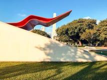 Ibirapuera parkerar teatern arkivbilder