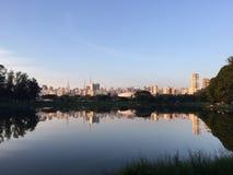 Ibirapuera reflexioner Royaltyfria Foton