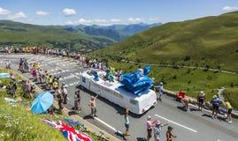 IBIS-Budget-Wohnwagen - Tour de France 2014 Stockfoto