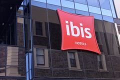 Ibis Hotel in Adelaide South Australia. Ibis Hotel.Ibis is an international hotel company owned by AccorHotel. The chain have hotels on six continents. As of royalty free stock photography