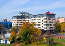 IBIS otel. KALININGRAD, RUSSIA - OCTOBER 15, 2013: Was opened in Kaliningrad IBIS on Moskovsky prospect Stock Images