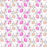 Ibisco floreale senza cuciture del modello Fotografia Stock