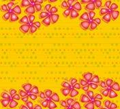 Ibisco rosso sui puntini gialli Fotografia Stock Libera da Diritti
