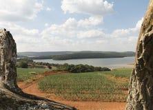 Ibiuna dam - agriculture, Sao Paulo, Brazil stock photos