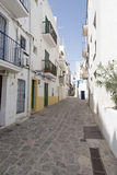 Ibiza城镇 免版税库存图片