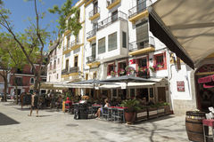 Ibiza城镇 免版税库存照片
