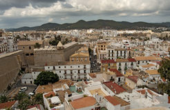 Ibiza. View from the ramparts of the fortress of Ibiza royalty free stock images