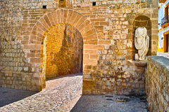 Ibiza. Seen from inside the Dalt Vila Stock Images