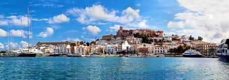 Панорама Ibiza, Испании Стоковое фото RF
