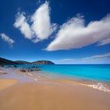 Ibiza Aigues Blanques Aguas Blancas Beach at Santa Eulalia Royalty Free Stock Photos