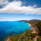Ibiza Aigues Blanques Aguas Blancas Beach at Santa Eulalia Royalty Free Stock Photo