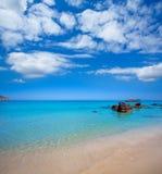 Ibiza Aigues Blanques Aguas Blancas Beach at Santa Eulalia Stock Image