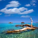 Ibiza Aigues Blanques Aguas Blancas Beach at Santa Eulalia Royalty Free Stock Photography