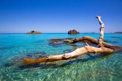 Ibiza Aigues Blanques Aguas Blancas Beach at Santa Eulalia Royalty Free Stock Image