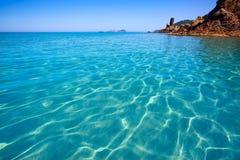 Ibiza Aigues Blanques Aguas Blancas Beach at Santa Eulalia Royalty Free Stock Images