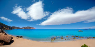 Ibiza Aigues Blanques Aguas Blancas Beach at Santa Eulalia Royalty Free Stock Photography
