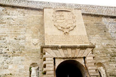 Ibiza balearic island Castle entrance door Stock Photos