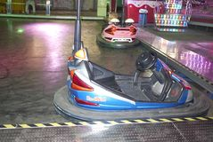 Bumpers cars in Ibiza. Ibiza, Balearic Islands, Spain - August 31, 2015: Dodgem cars in Ibiza Stock Images