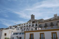 View of old Eivissa stock photography