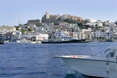 Ibiza Balearic Mediterranean white island in Spain Stock Photo
