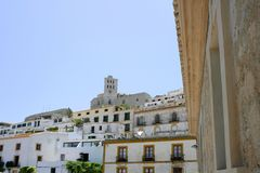 Ibiza Balearic Mediterranean white island in Spain Royalty Free Stock Photography