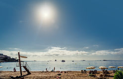 Ibiza beach. Spain Royalty Free Stock Photography