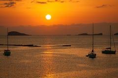 Ibiza Beautiful sunset in Cala Conta, Ibiza,near San Antonio Stock Images