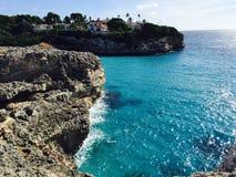 Ibiza blue beach Majorque. Tourisme nature ibiza Royalty Free Stock Photo