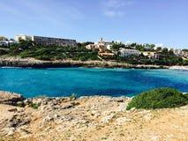 Ibiza blue beach Majorque. Tourisme nature ibiza Stock Images