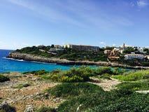Ibiza blue beach Majorque. Tourisme nature ibiza Royalty Free Stock Photos