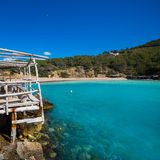 Ibiza Cala Benirras beach in san Joan at Balearic Royalty Free Stock Images