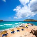 Ibiza Cala Conta Comte beach in Sant Josep Stock Image