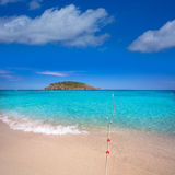 Ibiza Cala Conta Comte beach in Sant Josep Royalty Free Stock Photo