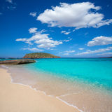 Ibiza Cala Conta Comte beach in Sant Josep Stock Photography