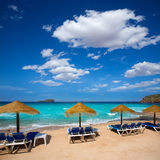 Ibiza Cala Conta Comte beach in Sant Josep Stock Images